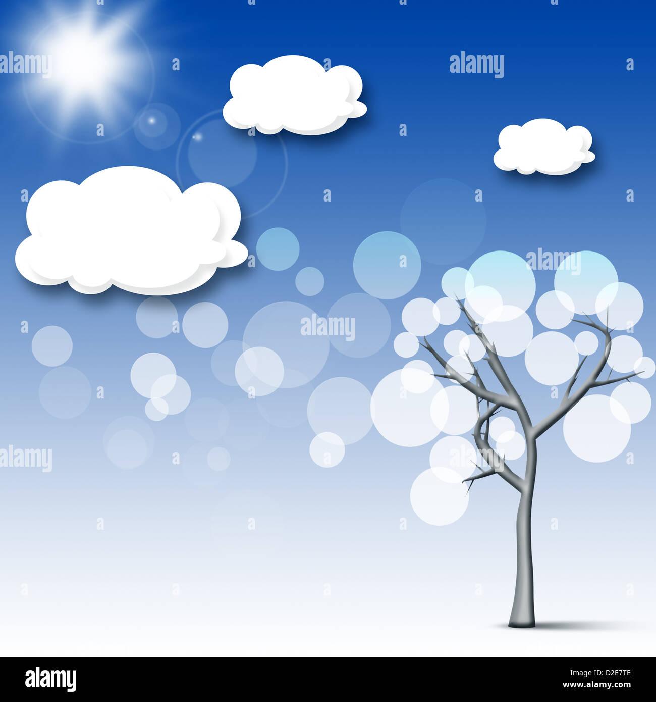 Abstrakte Toons Hintergrund für Ihr design Stockbild
