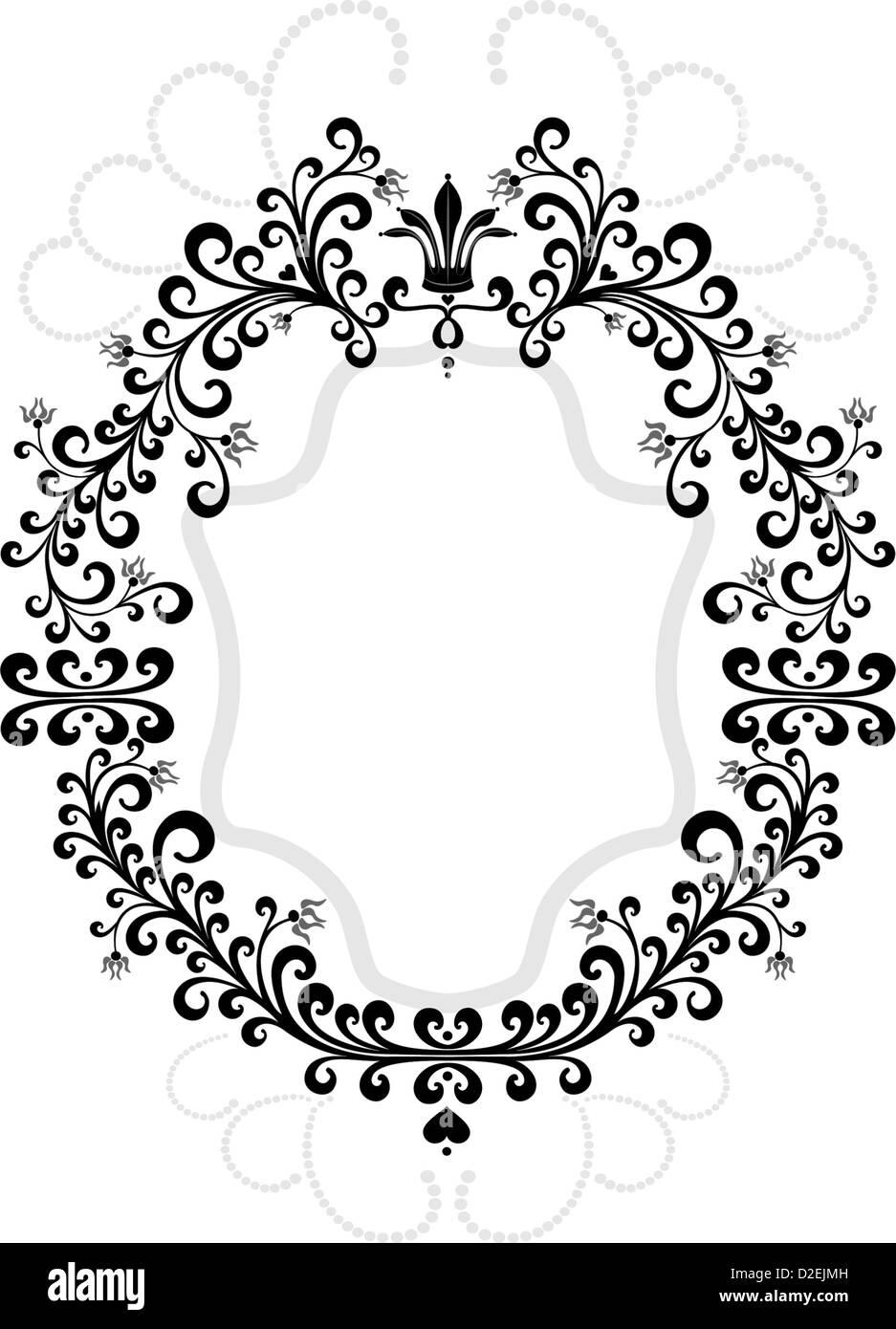 Rahmen der dekorativen Verzierung. Grafik. Stockbild
