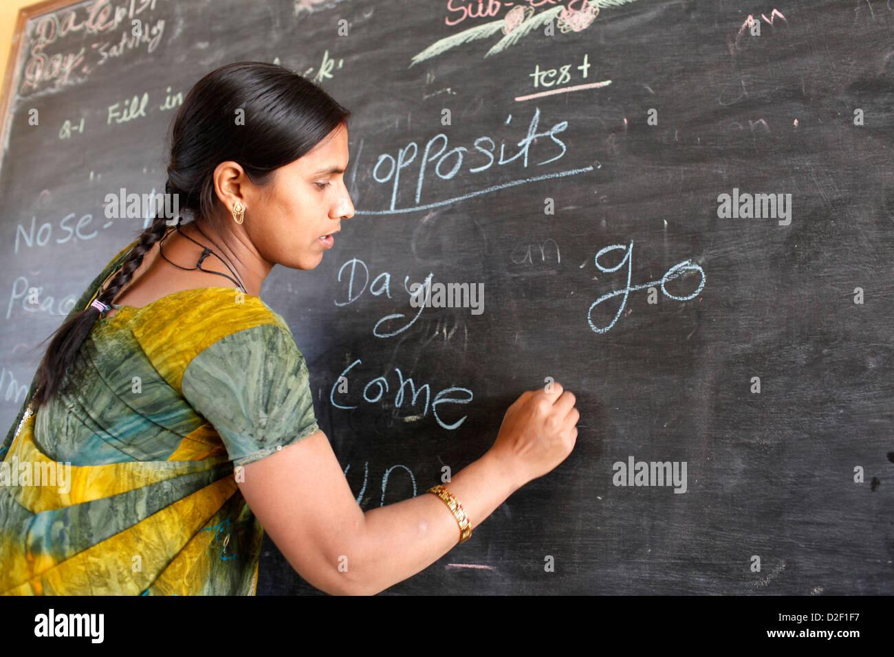Sandipani Muni High School Lehrer Vrindavan. Indien. Stockbild