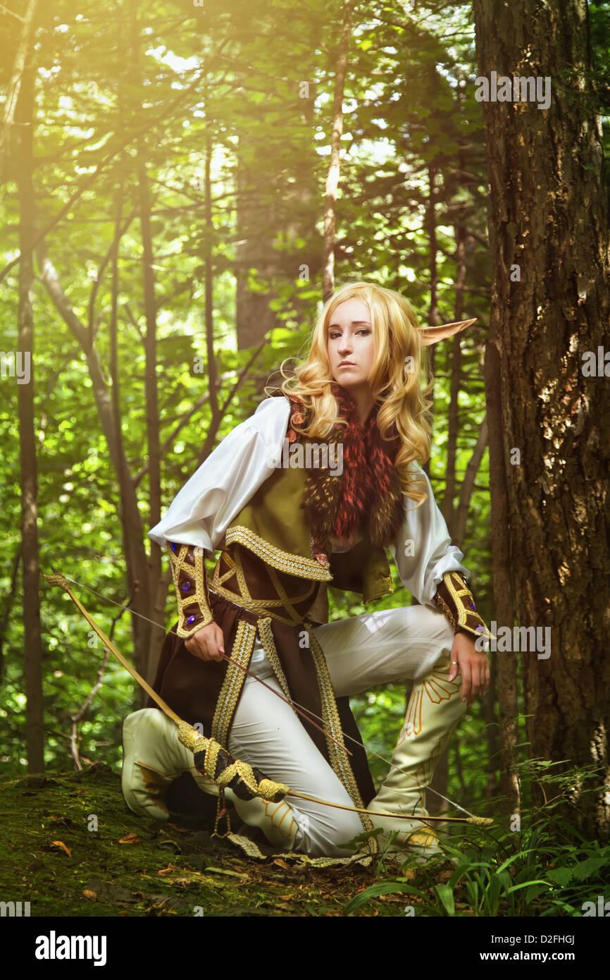 Elf aus dem Wald Stockbild