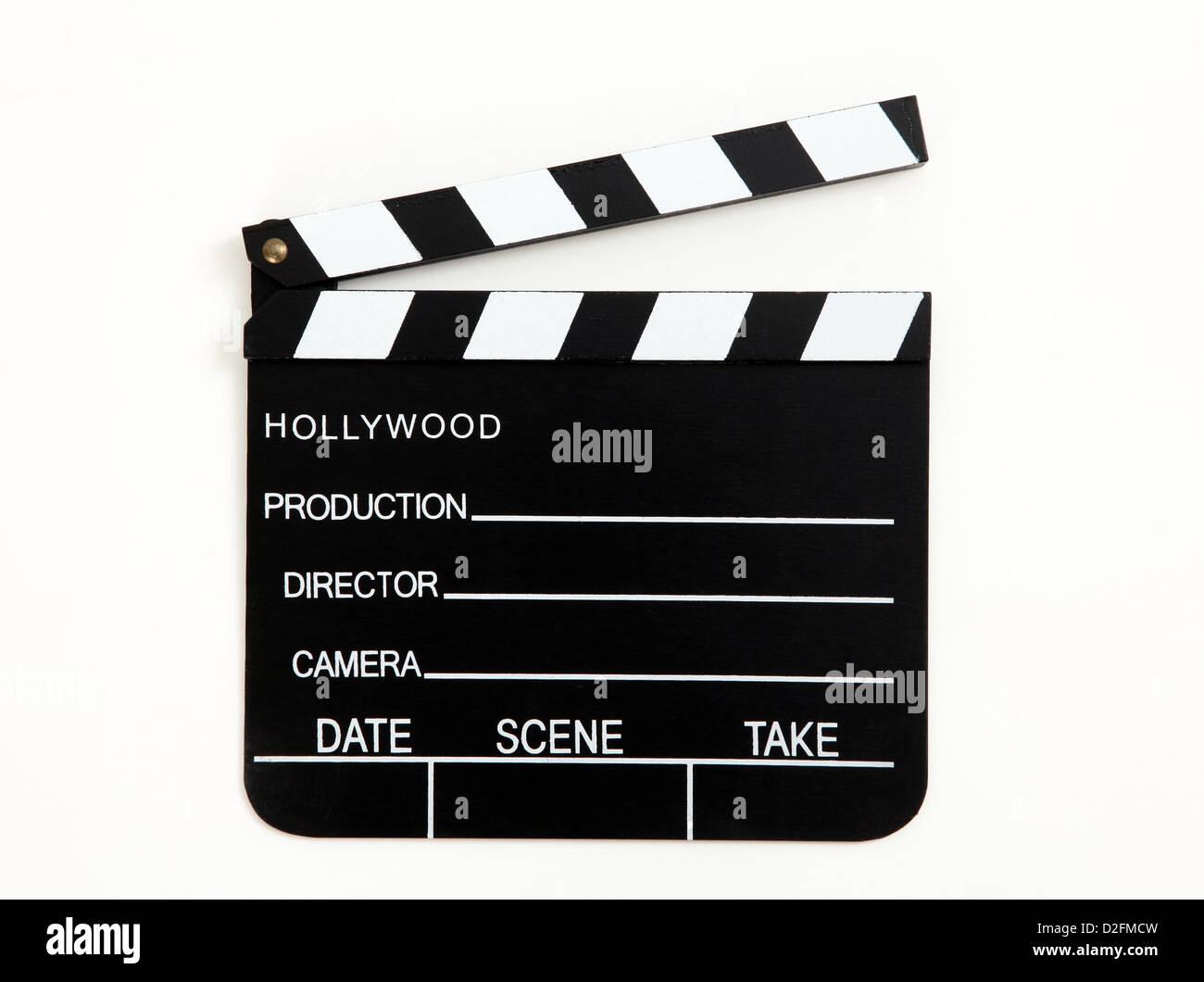 Hollywood Filmklappe Stockbild