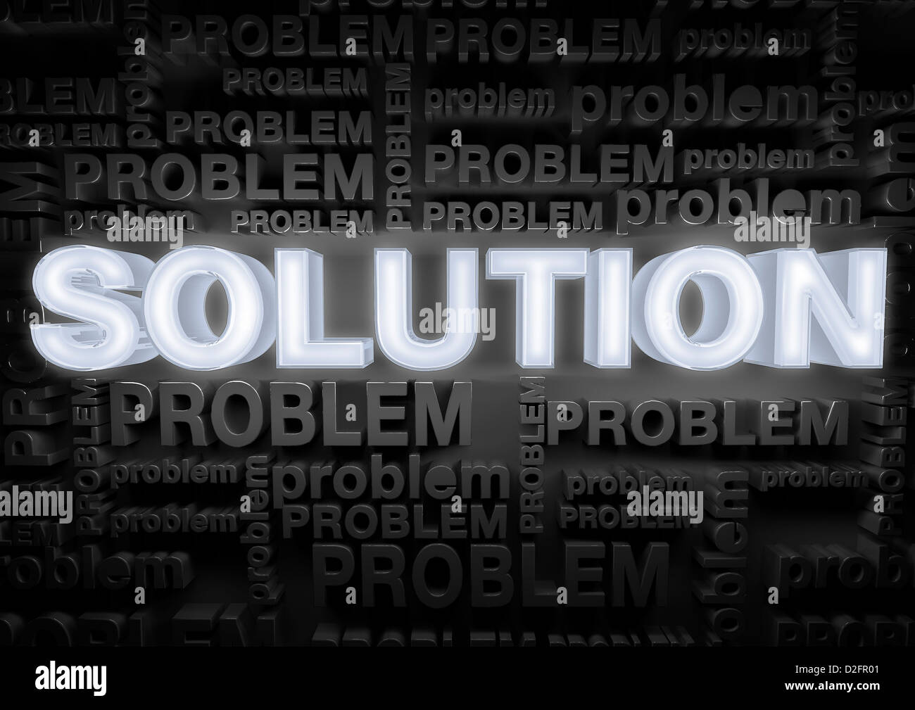 Lösungskonzept Stockbild