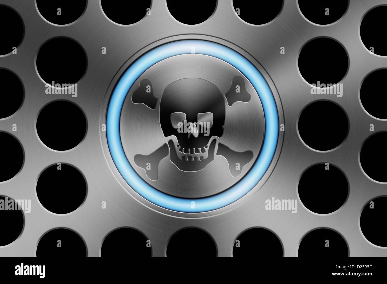 Piraterie im Internet/online Sicherheit/Cyber Security/ransomware Virus/Cyber Crime/Urheberrecht Konzept Stockbild