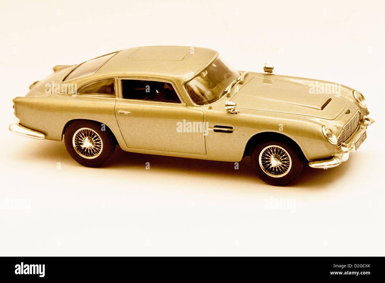 Aston Martin DBS Spielzeugauto Stockbild