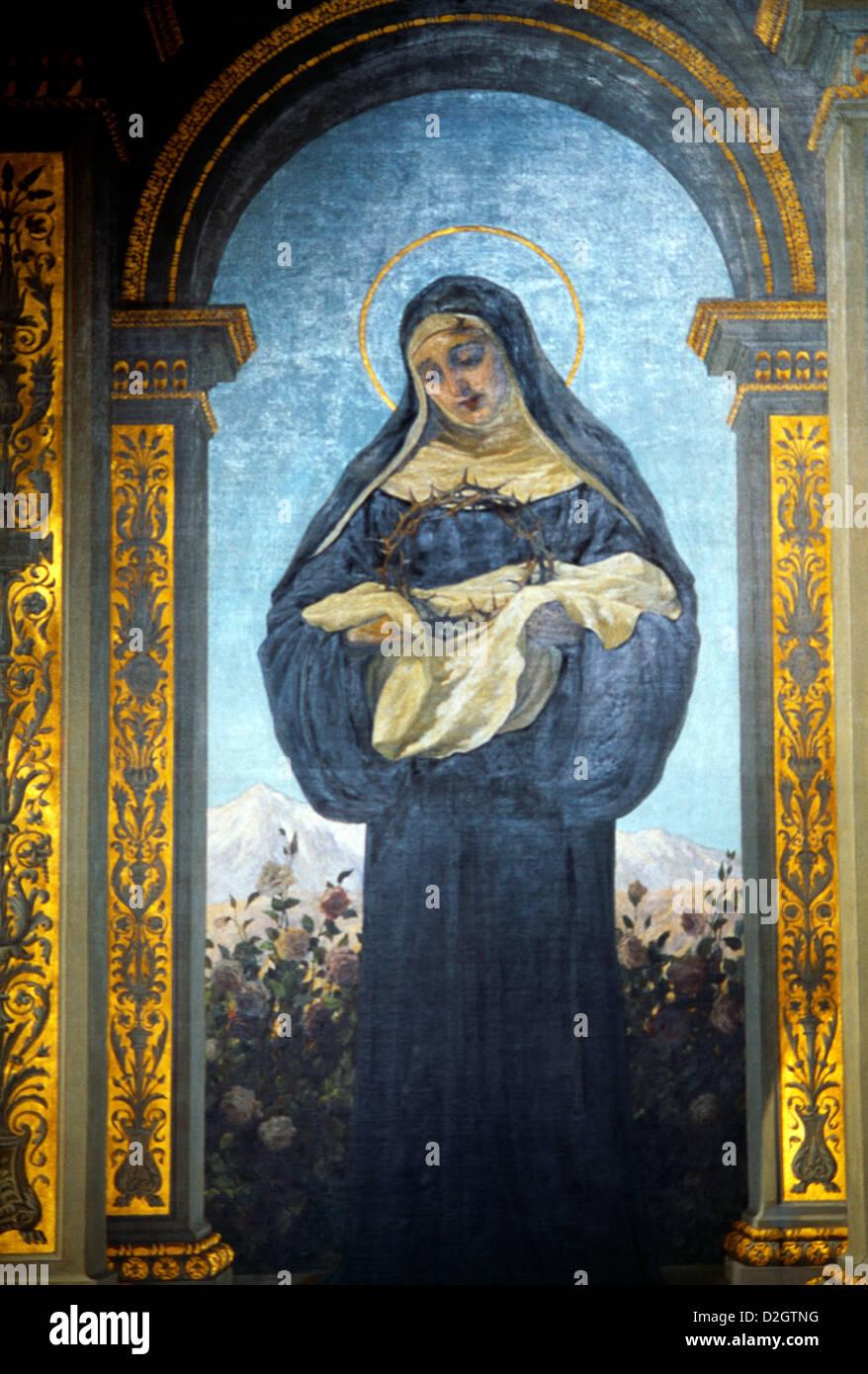 Rom Italien Santa Maria Del Popolo Malerei Santa Rita Da Cascia