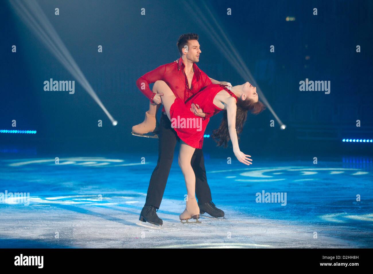 Stars auf Eis-Show Mitglied der russischen Ice Stars Stockbild