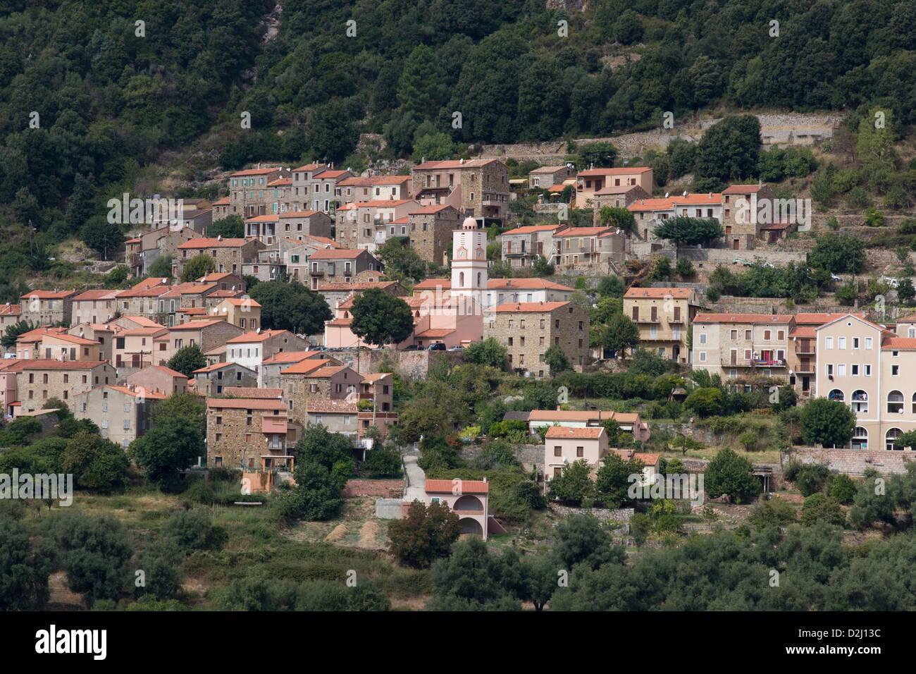 Korsika: Ota Dorf Stockfoto