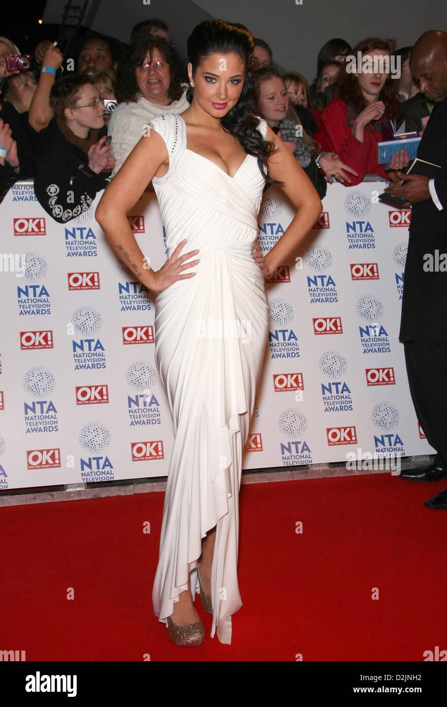 TULISA NATIONAL Television AWARDS RED CARPET Ankünfte LONDON ENGLAND UK 23. Januar 2013 Stockbild