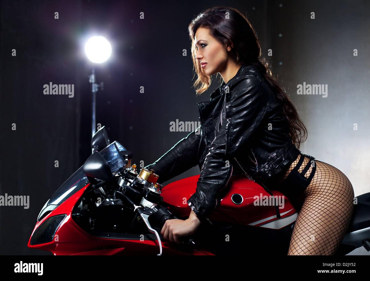 galerie der sexy frauen motorrad