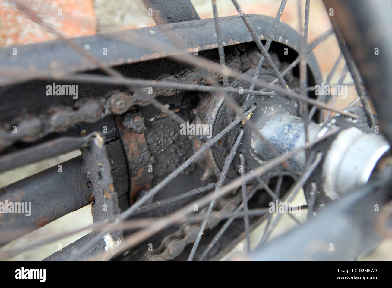Rusty Bike Chain Stockfotos & Rusty Bike Chain Bilder - Alamy