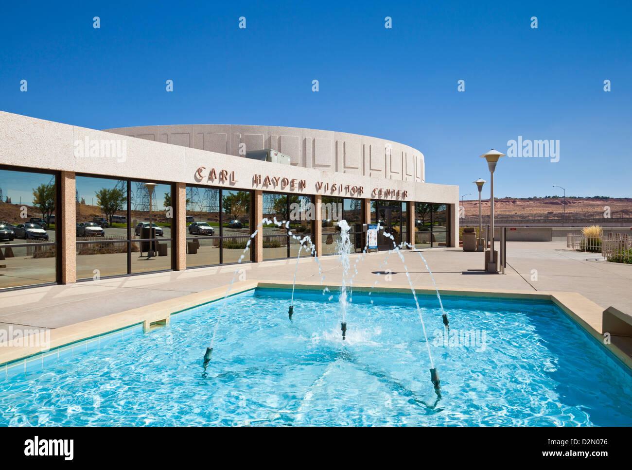 Carl Hayden Besucherzentrum am Glen Canyon Dam, in der Nähe von Page, Arizona, Vereinigte Staaten von Amerika, Stockbild