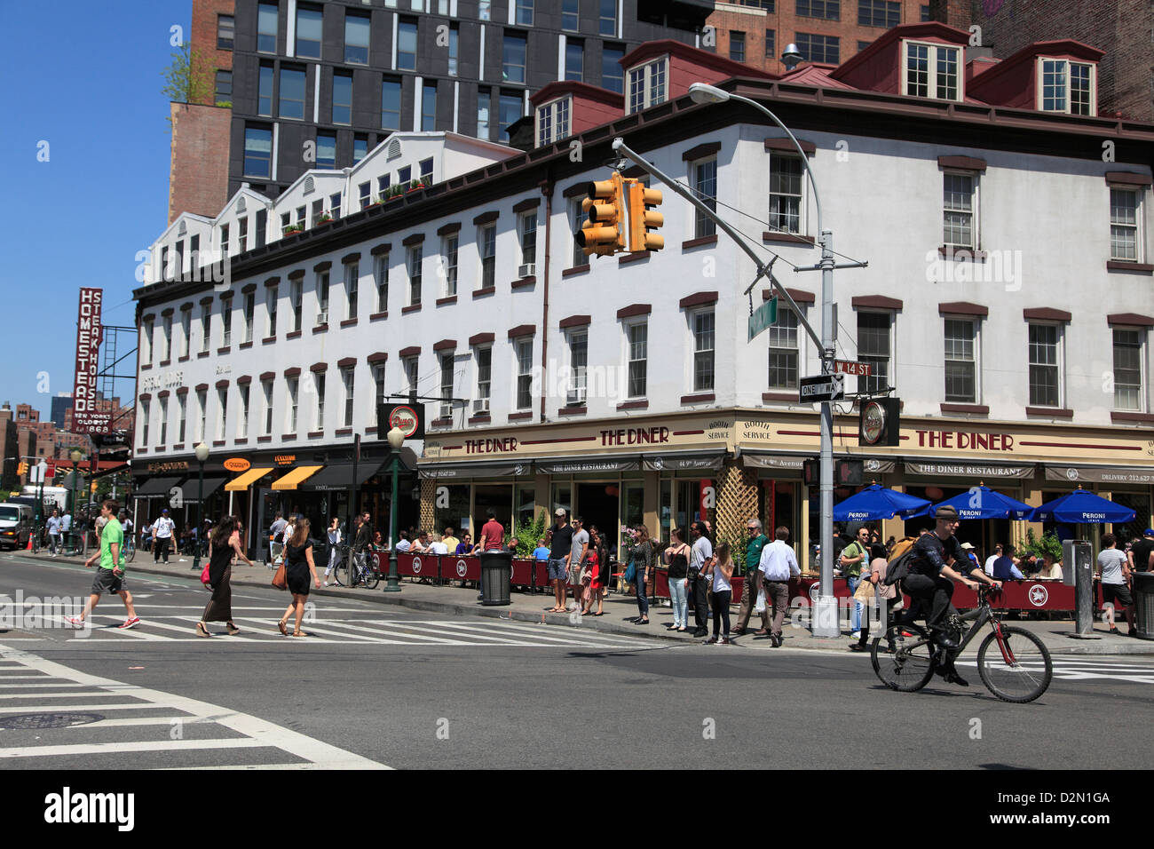 Meatpacking District, downtown Szeneviertel, Manhattan, New York City, Vereinigte Staaten von Amerika, Nordamerika Stockfoto