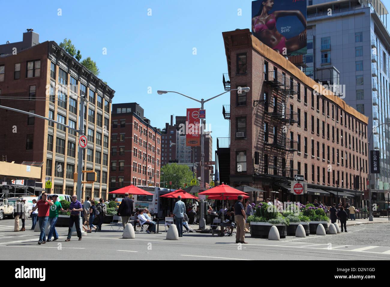 Meatpacking District, downtown Szeneviertel, Manhattan, New York City, Vereinigte Staaten von Amerika, Nordamerika Stockfoto