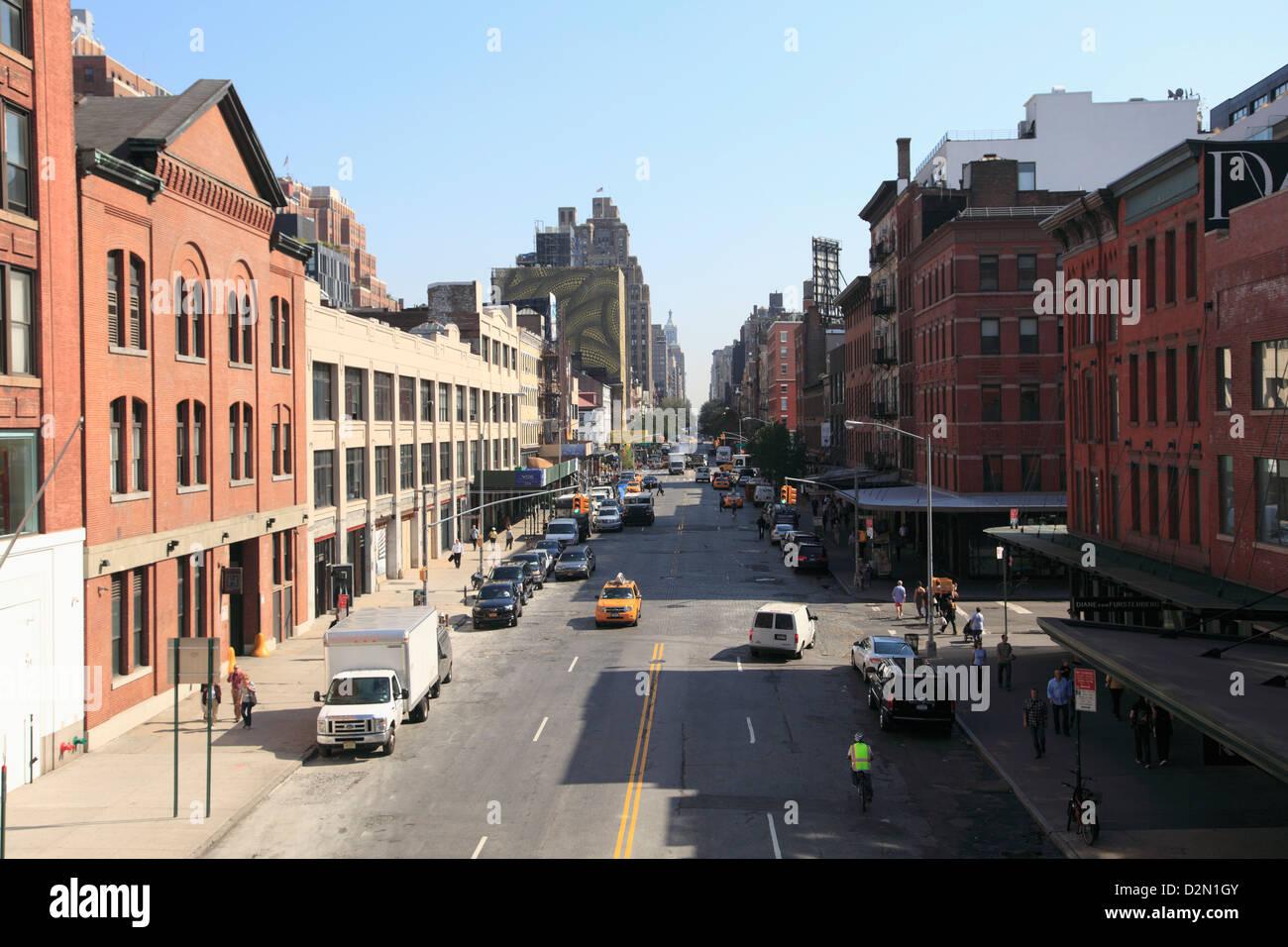 14th Street, Meatpacking District, downtown Szeneviertel, Manhattan, New York City, USA Stockbild