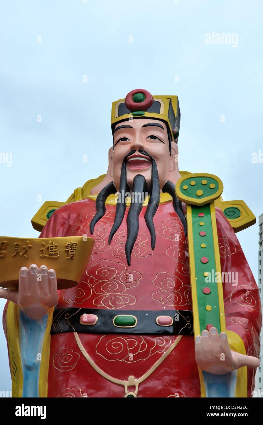 """Cai Shen (Chinesisch: """"God of Wealth"""") ist der chinesische Gott des Wohlstandes. Stockbild"""