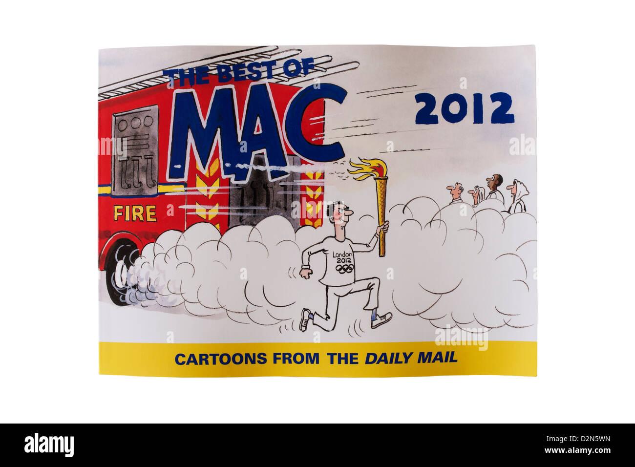 Ein Mac-Cartoon-Buch auf weißem Hintergrund Stockbild