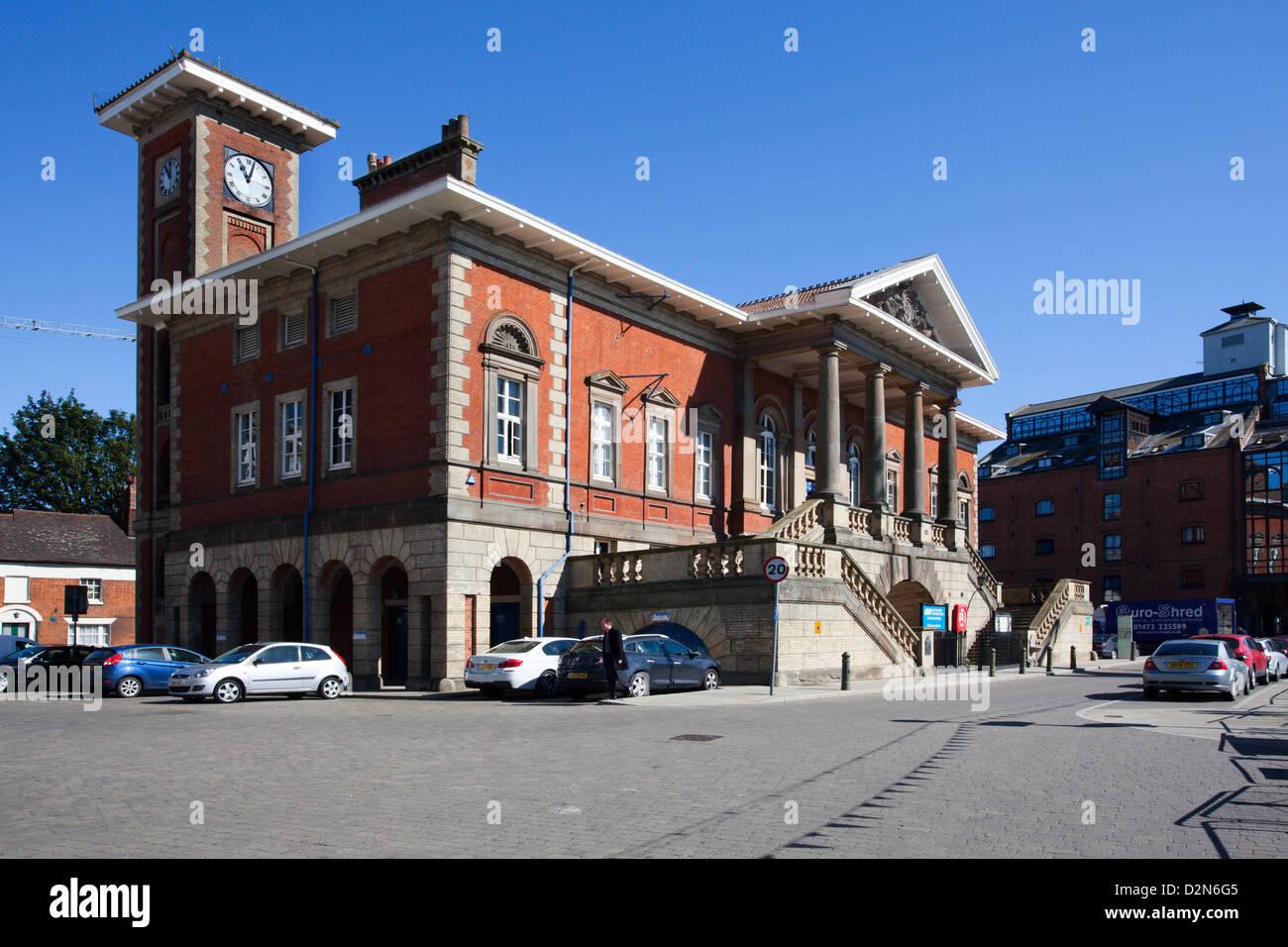 Das alte Zollhaus in Ipswich Marina, Ipswich, Suffolk, England, Vereinigtes Königreich, Europa Stockbild