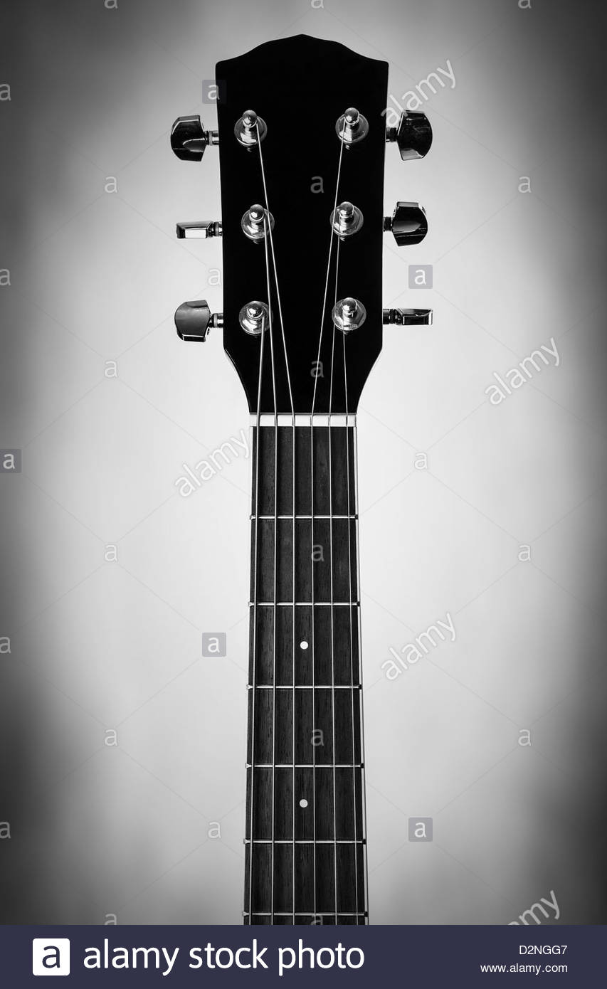 Gitarrenhals Stockbild