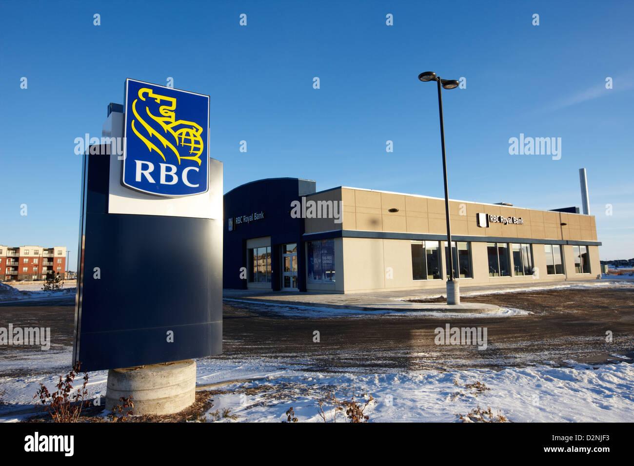Königliche Bank von Kanada rbc verzweigen in Winter Saskatoon Saskatchewan Kanada Stockbild