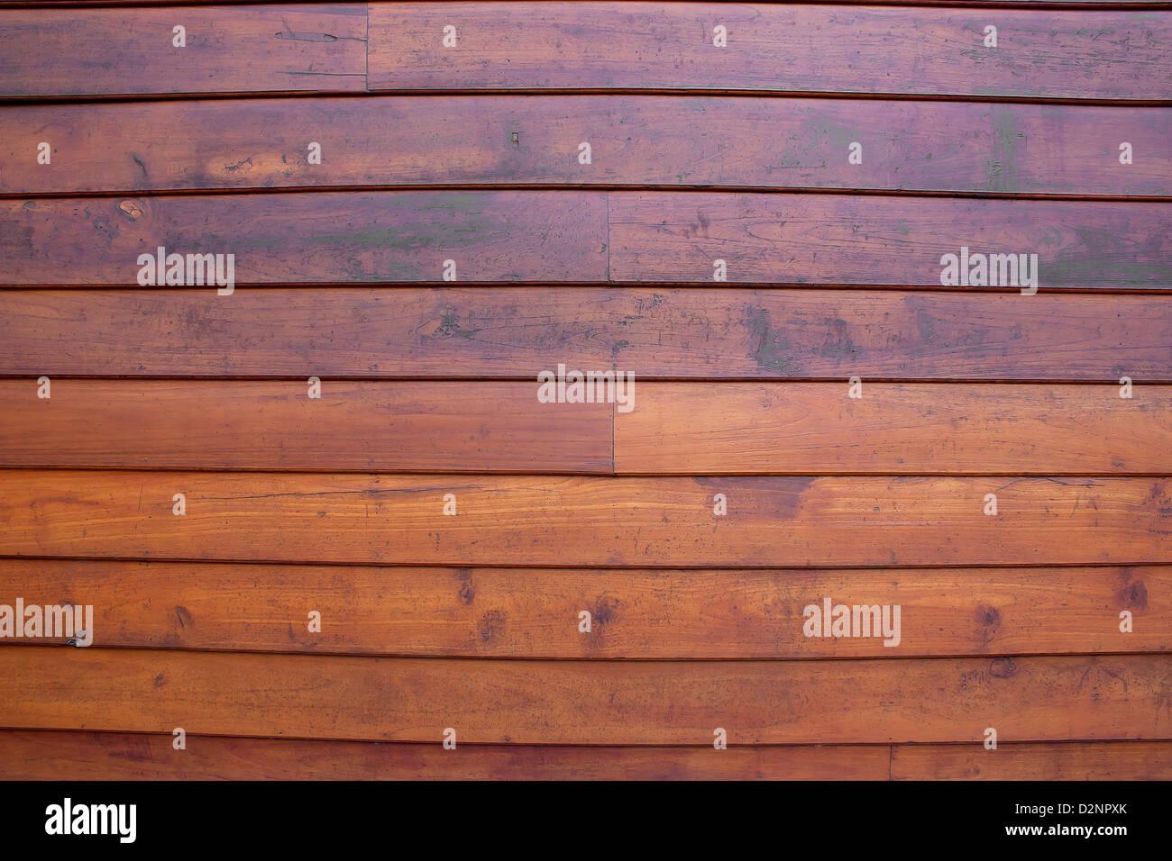 Wände, Teakholz, Teak Holz, gut auf horizontal ausgerichtet werden. Stockbild