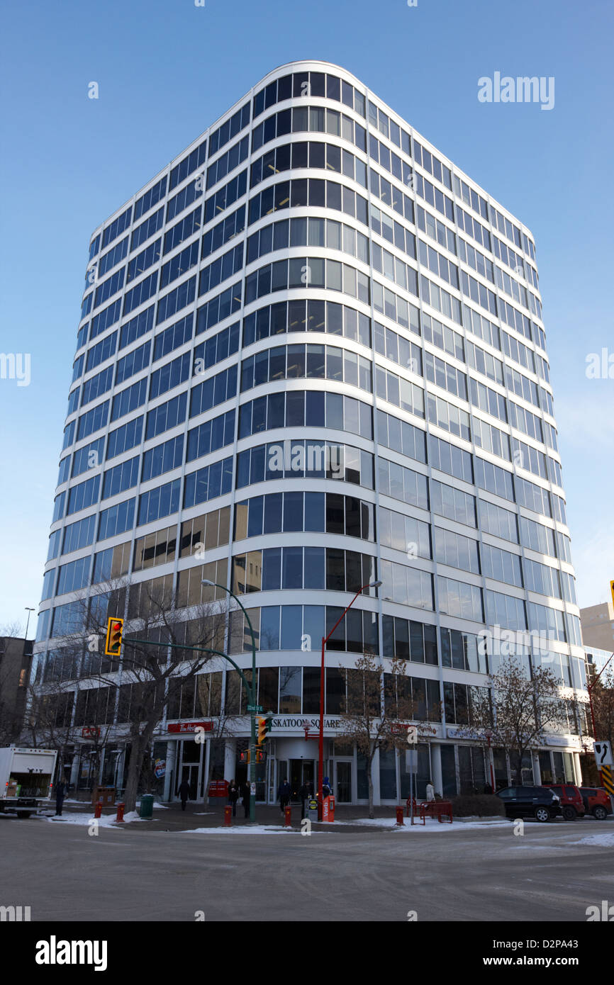 Saskatoon qm Bürohochhaus Saskatchewan Kanada Stockbild