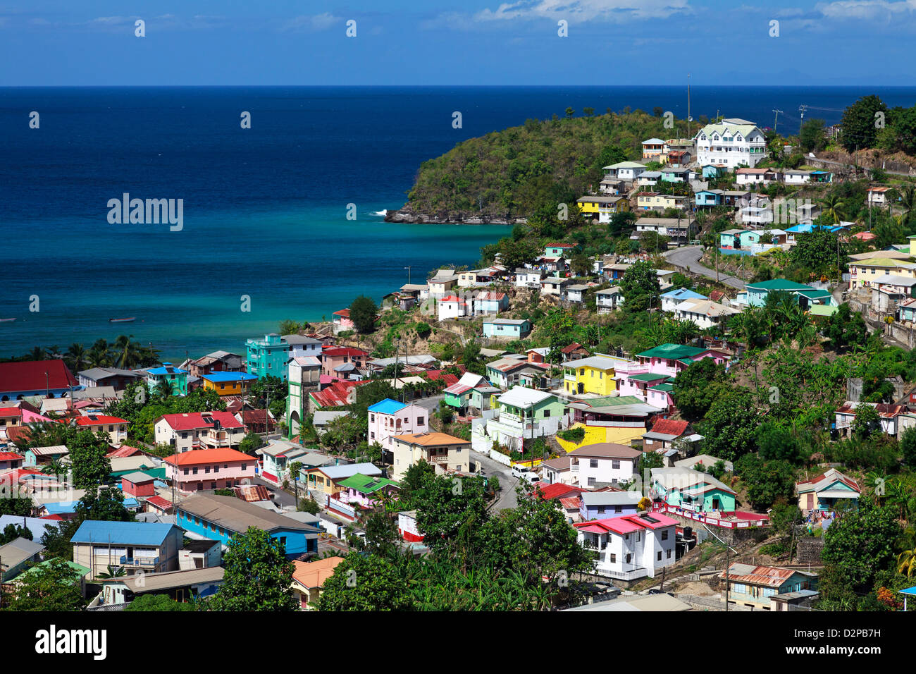 caribbean st lucia canaries village stockfotos caribbean st lucia canaries village bilder alamy. Black Bedroom Furniture Sets. Home Design Ideas