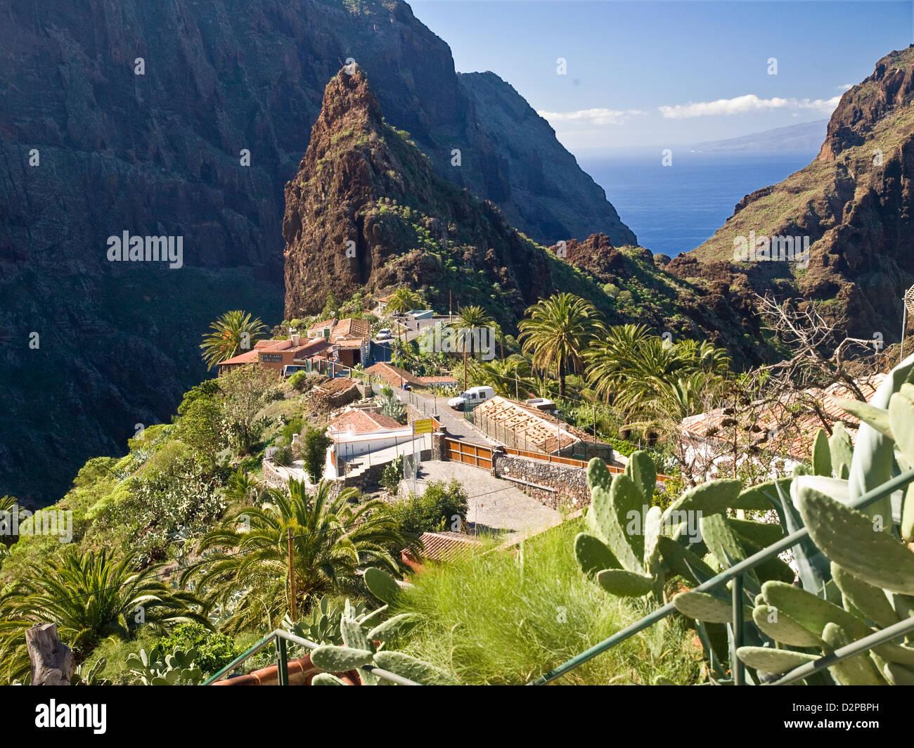 Masca im Teno Gebirge, Teneriffa, Kanarische Inseln, Spanien Stockbild