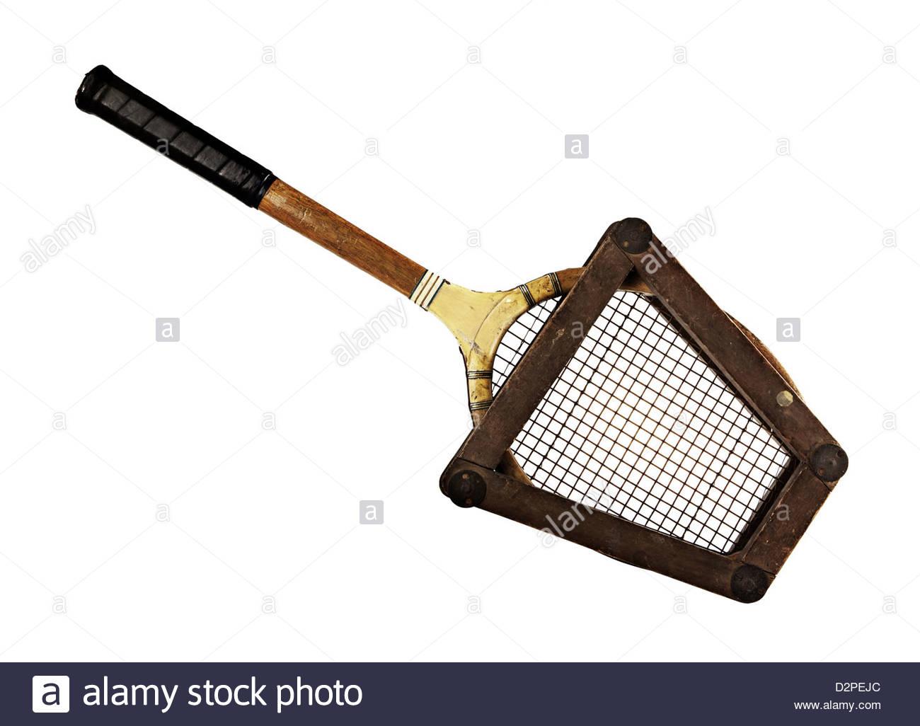 hölzernen Tennisschläger im Rahmen Stockfoto, Bild: 53354852 - Alamy