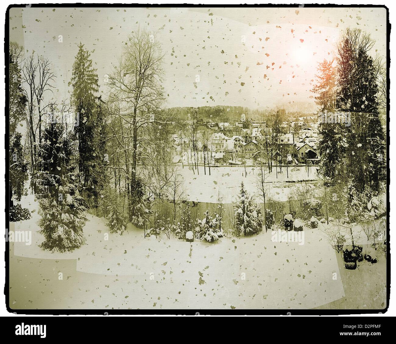 DIGITALE Kunst: Winter Wonderland (Bad Tölz/Bayern Stockfoto, Bild ...