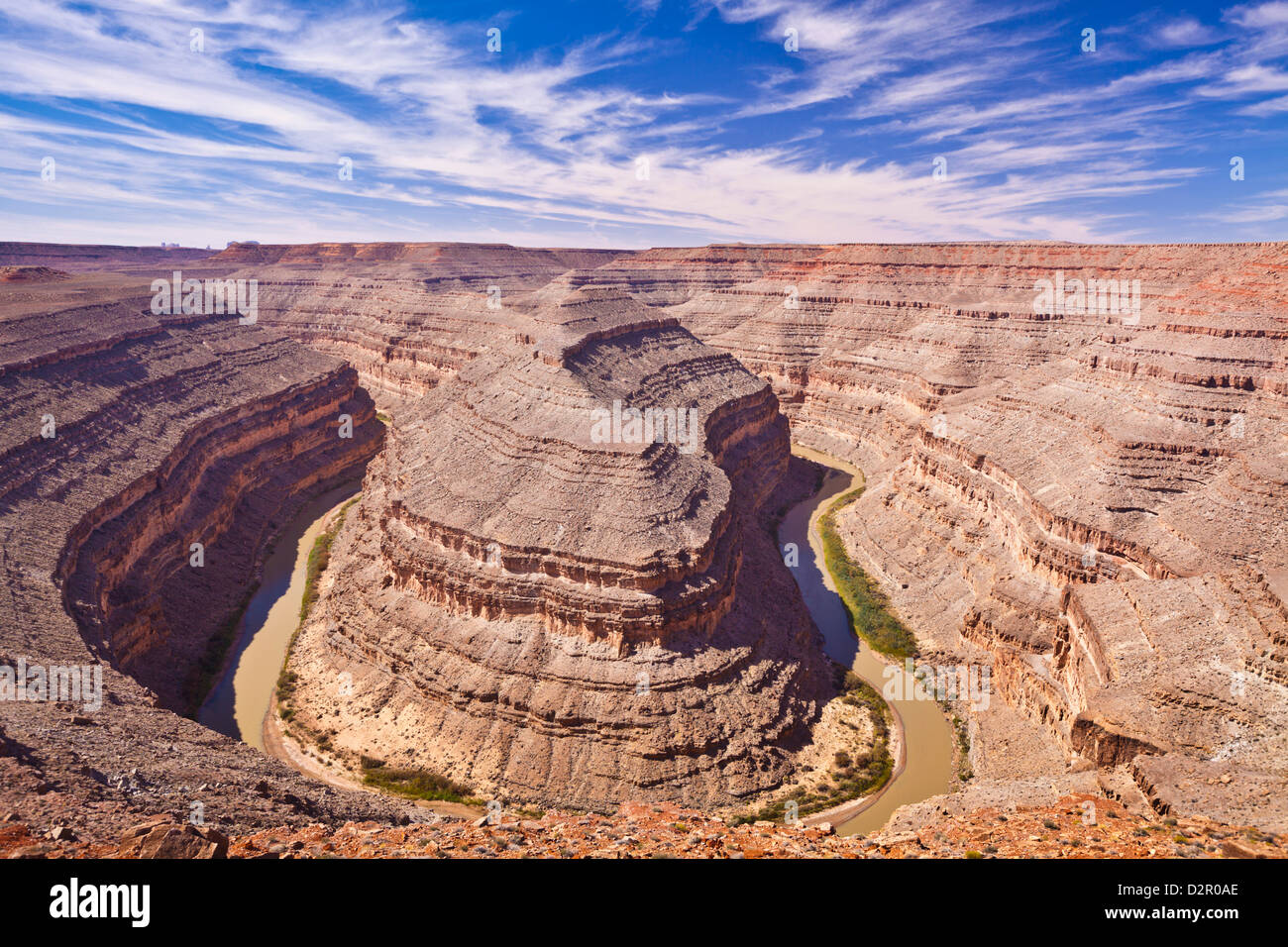 San Juan River, Goosenecks State Park, Utah, Vereinigte Staaten von Amerika, Nordamerika Stockbild
