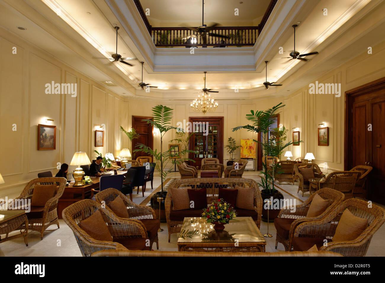 Das Strand Hotel ist eine viktorianische Hotel im Jahr 1896 erbaut. Yangon-Region. Burma. Republik der Union von Stockbild