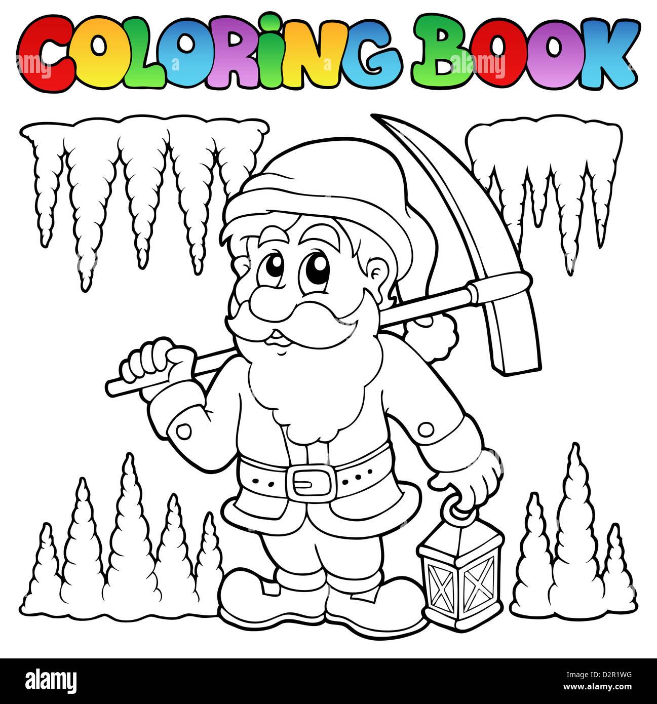 malvorlage arbeit zwerge  Coloring and Malvorlagan