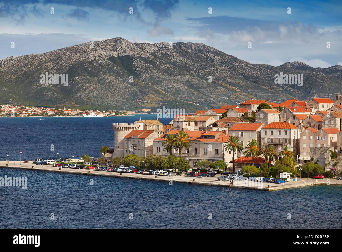 Korcula, Kroatien, Dalmatien Ziel Stockbild