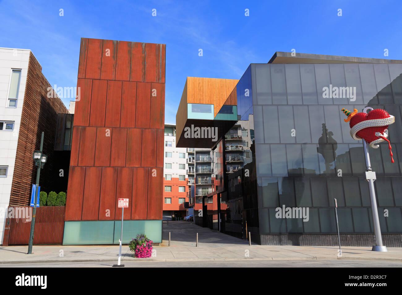 Senken Sie Museum für zeitgenössische Kunst, in der Innenstadt, Denver, Colorado, Vereinigte Staaten von Stockbild
