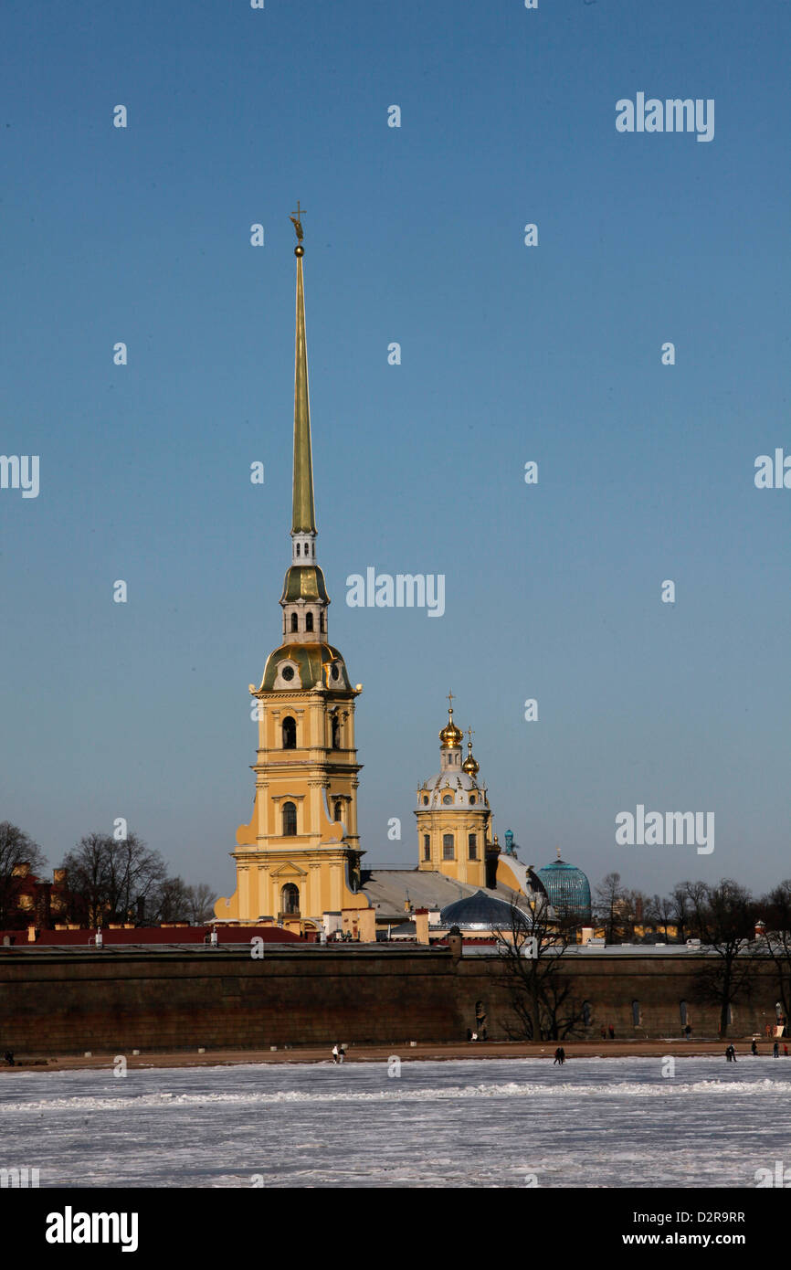 Kathedrale St. Peter und St. Paul, St. Petersburg, Russland, Europa Stockfoto