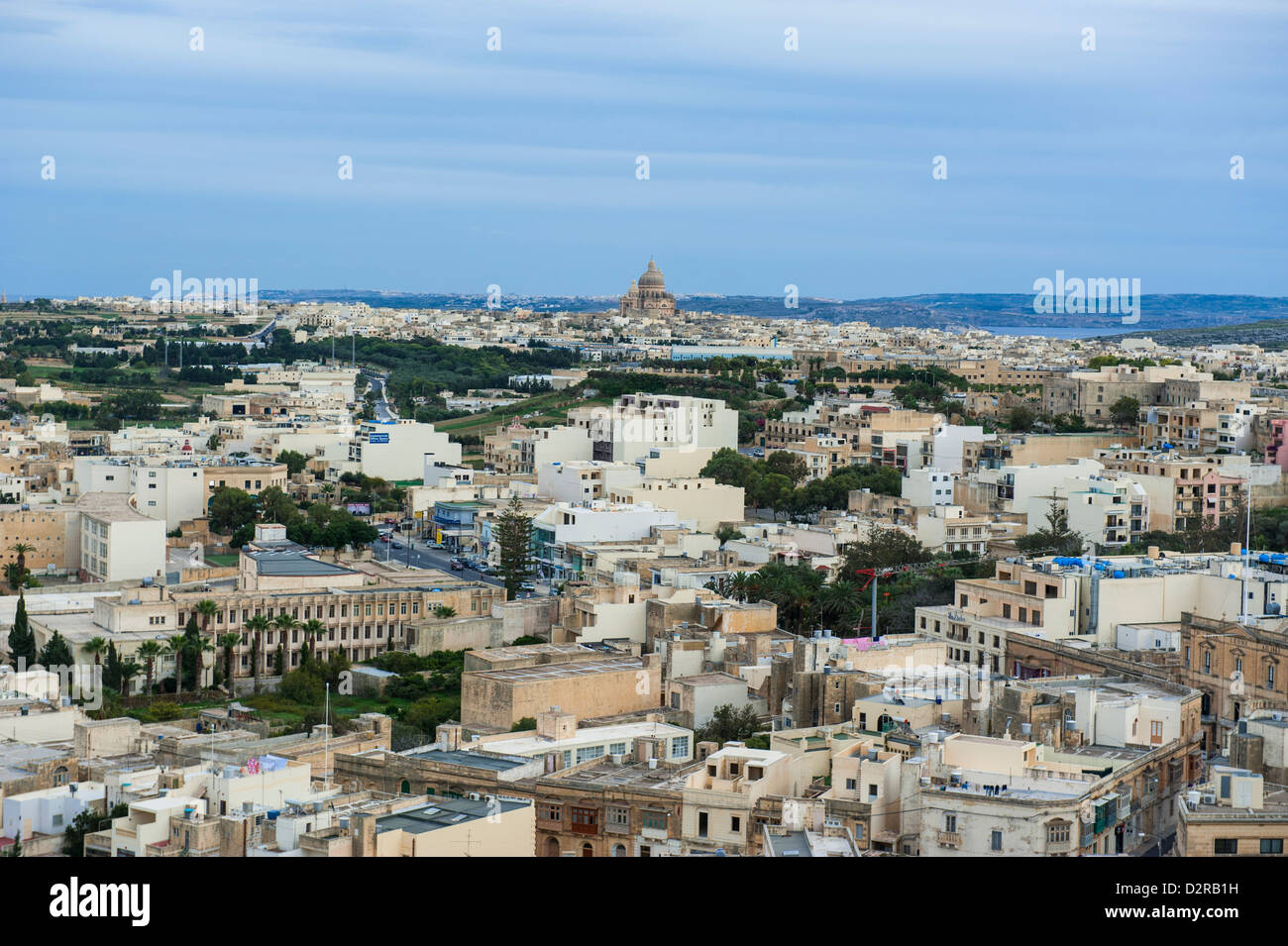 Die alte Stadt von Rabat (Victoria), Gozo, Malta, Europa Stockbild