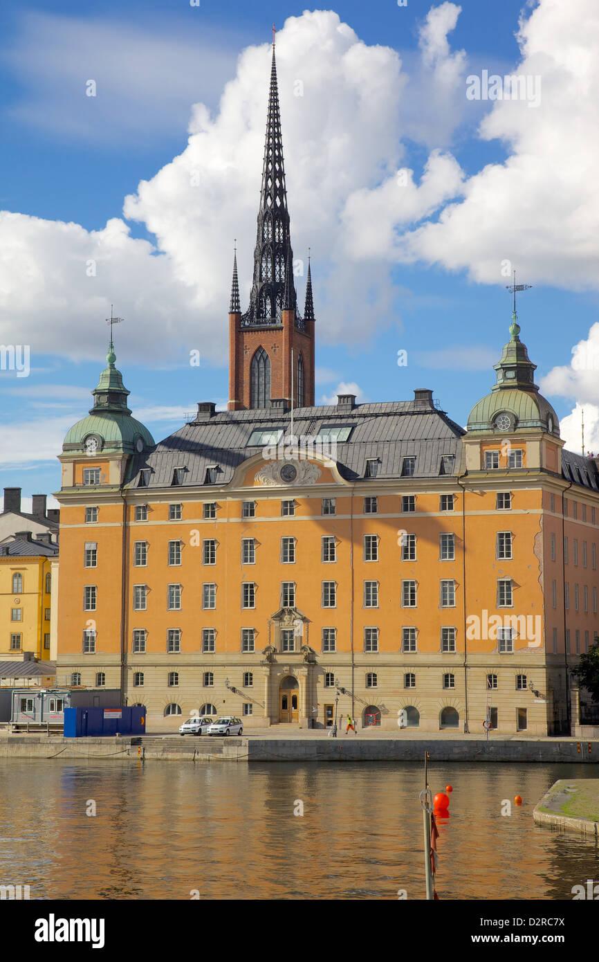 Turm der Riddarholmskyrkan (Riddarholmen Kirche), Riddarholmen, Stockholm, Schweden, Europa Stockbild