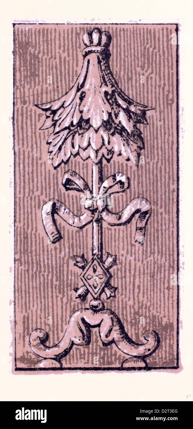 Renaissance-ornament Stockbild