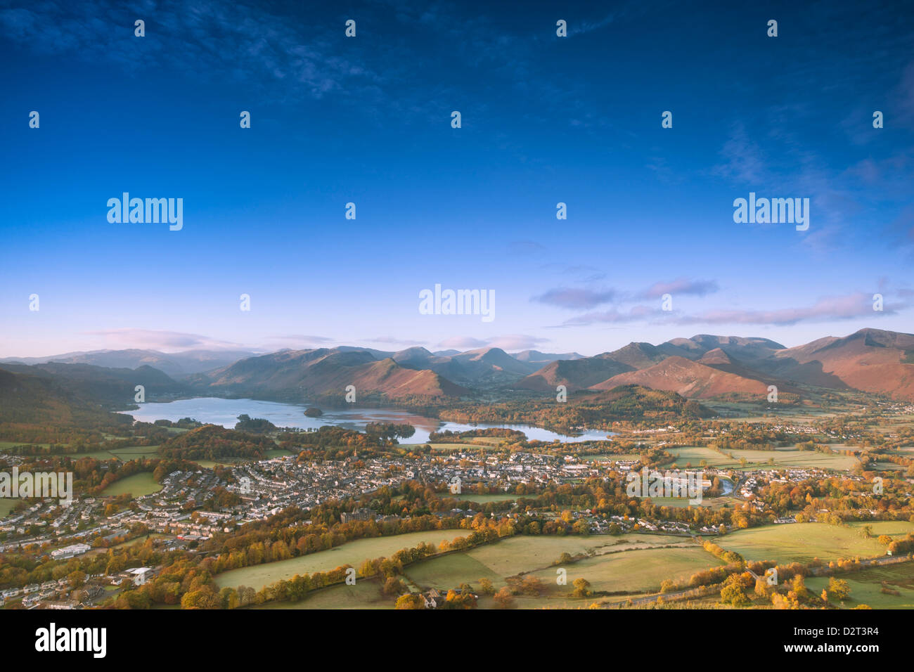 Derwentwater, Nationalpark Lake District, Cumbria, England, Vereinigtes Königreich, Europa Stockbild