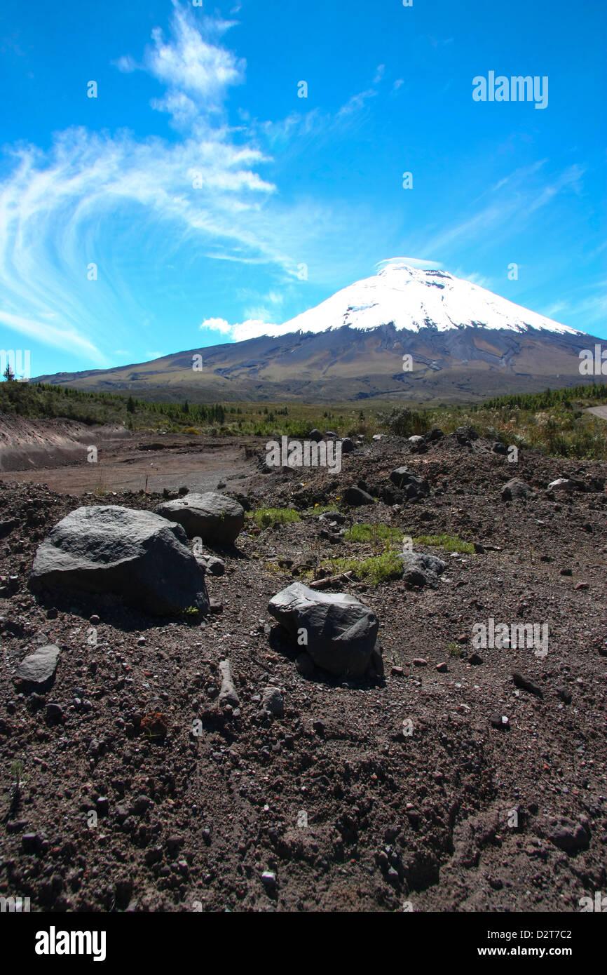 Der Vulkan Cotopaxi in Ecuador. Stockbild