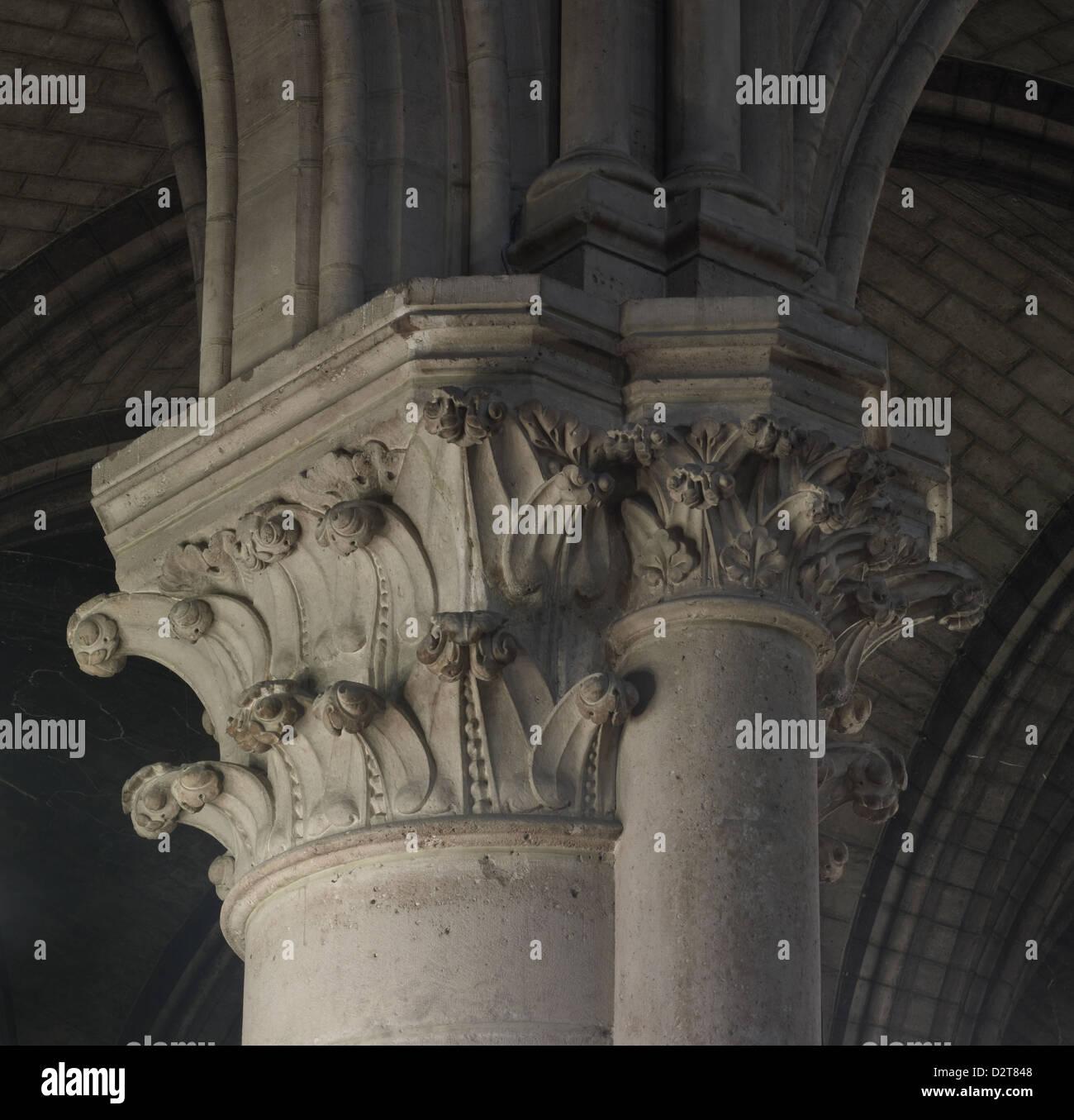 Hinweis-Dame Paris Kirchenschiff Hauptstadt Stockbild