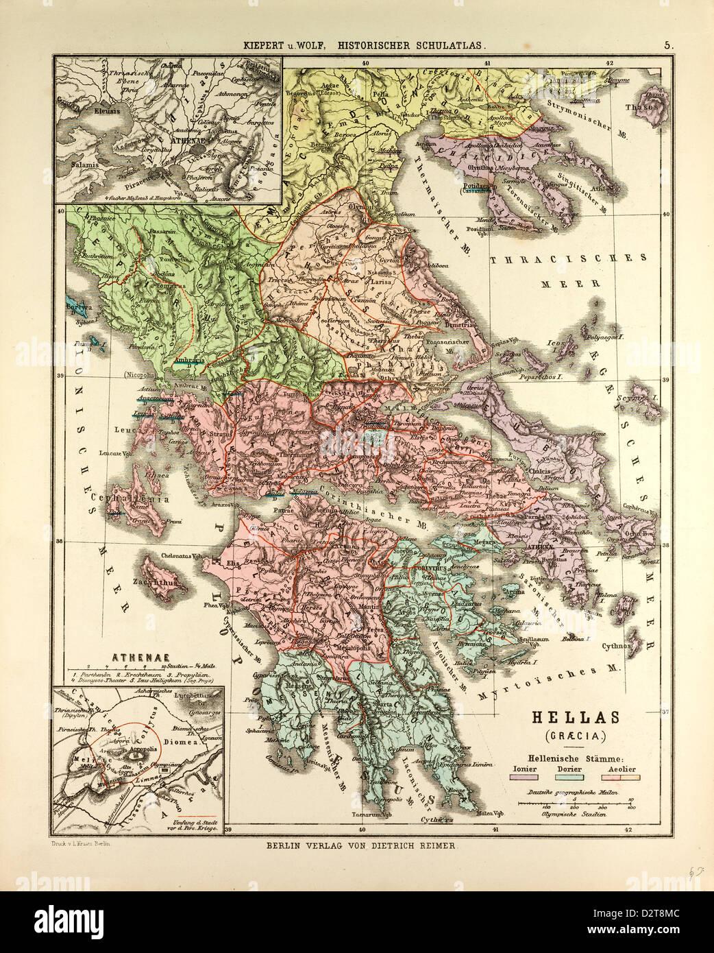 Alte Jugoslawien Karte.Alte Karte Von Griechenland Stockfoto Bild 53394108 Alamy