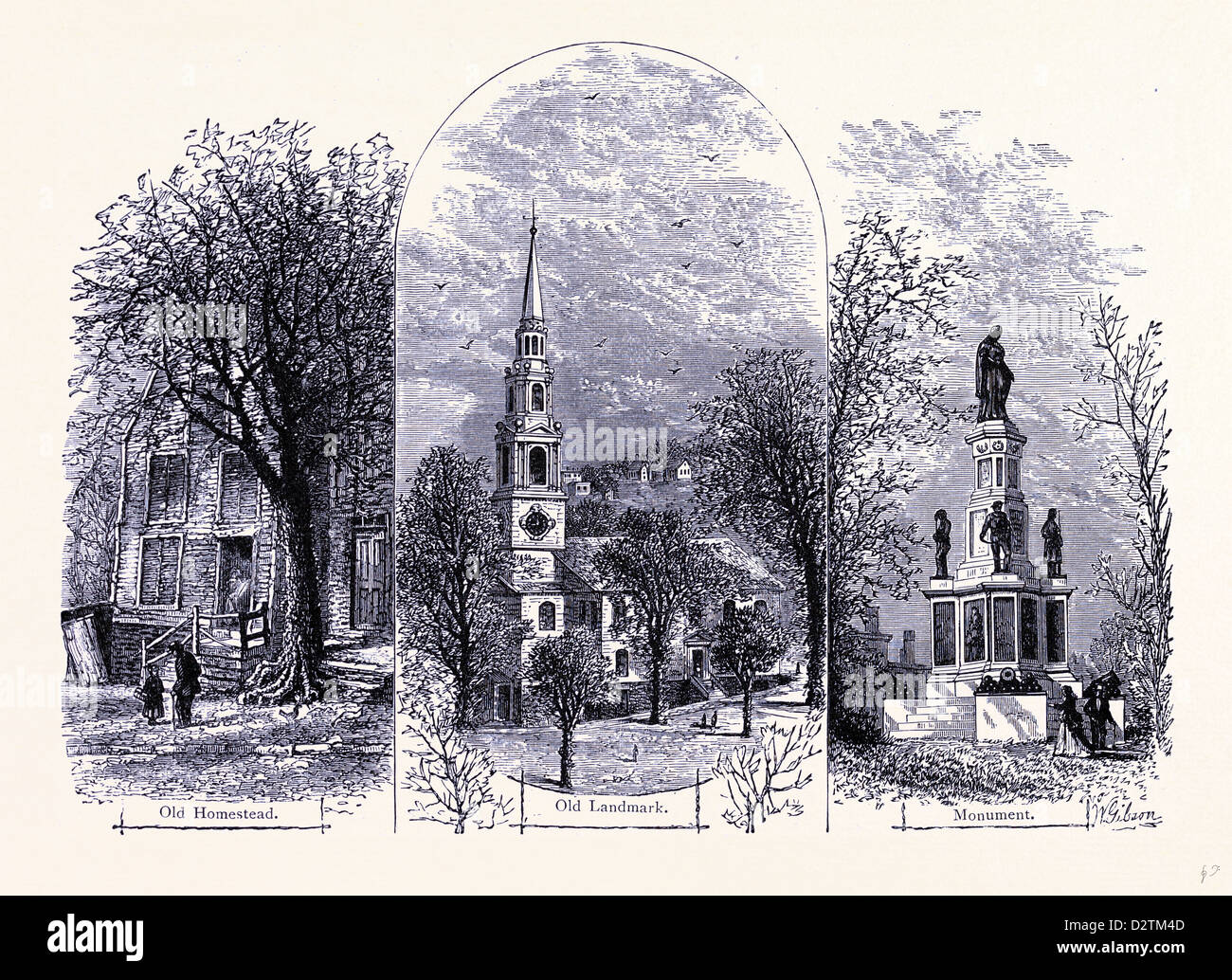 Providence: Old Homestead alte Wahrzeichen Monument Vereinigte Staaten von Amerika Stockbild