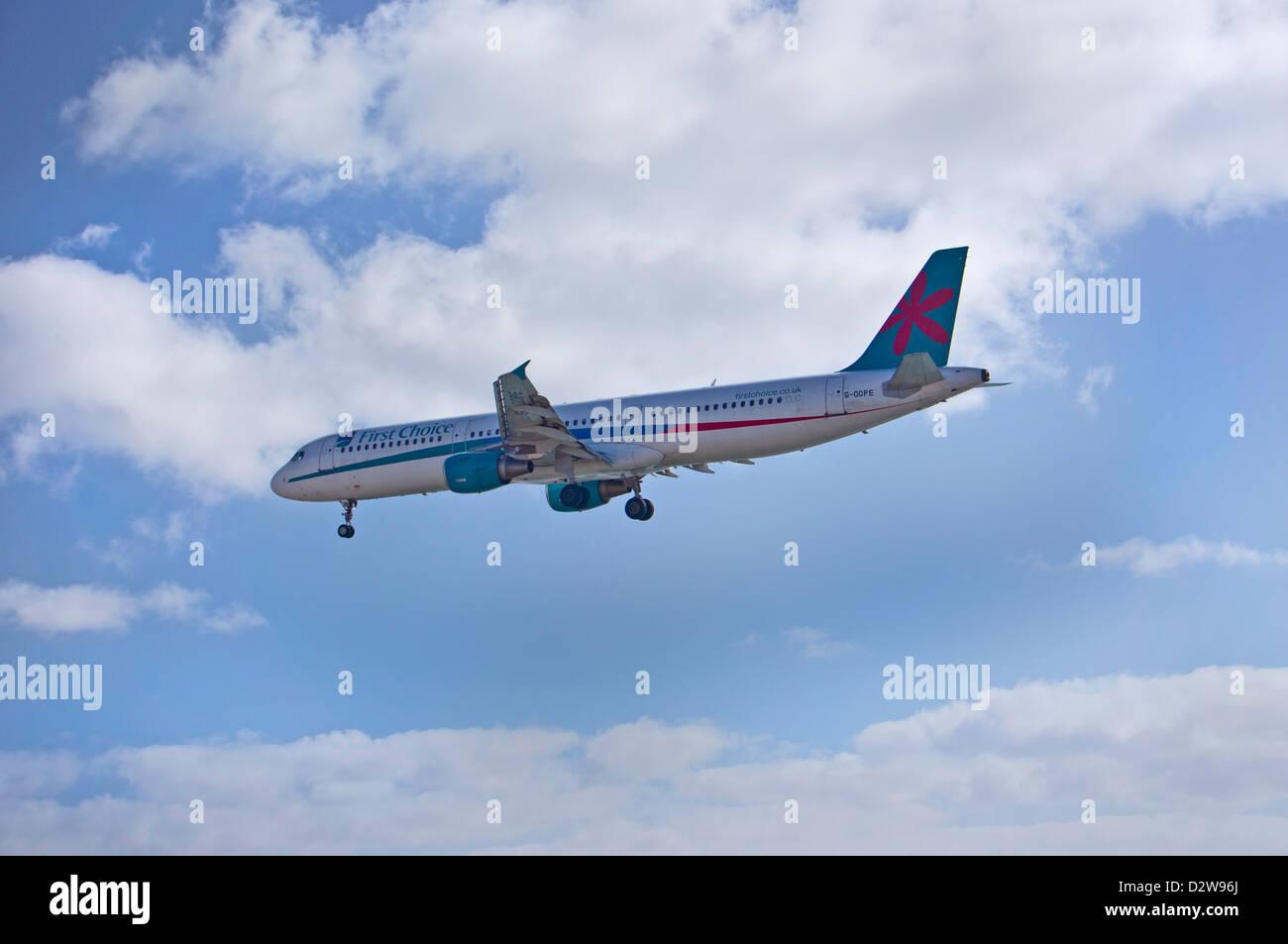 Arricife Kanarischen Insel Lanzarote. Flughafen erste Wahl G-OOPE Stockbild