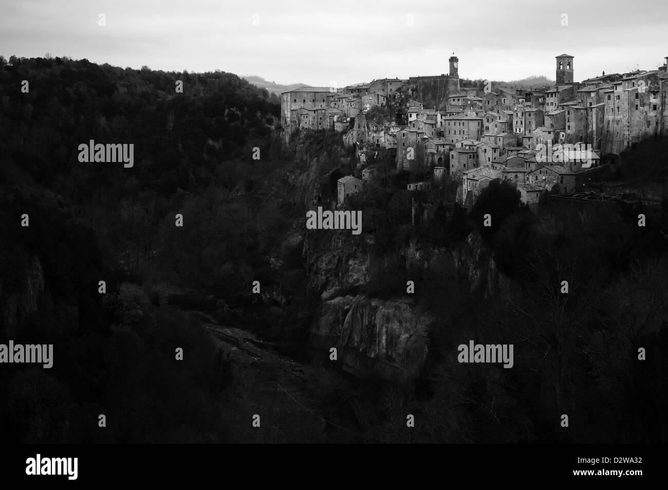 Sorano, Italien Stockbild