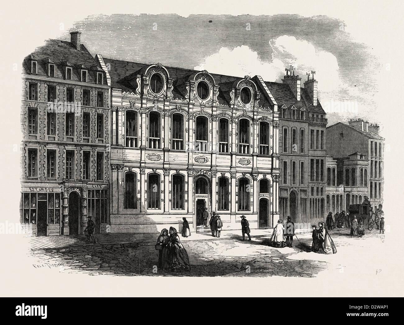 DIE NEUE FASSADE DER SCHOOL OF FINE ARTS PARIS FRANKREICH Stockbild
