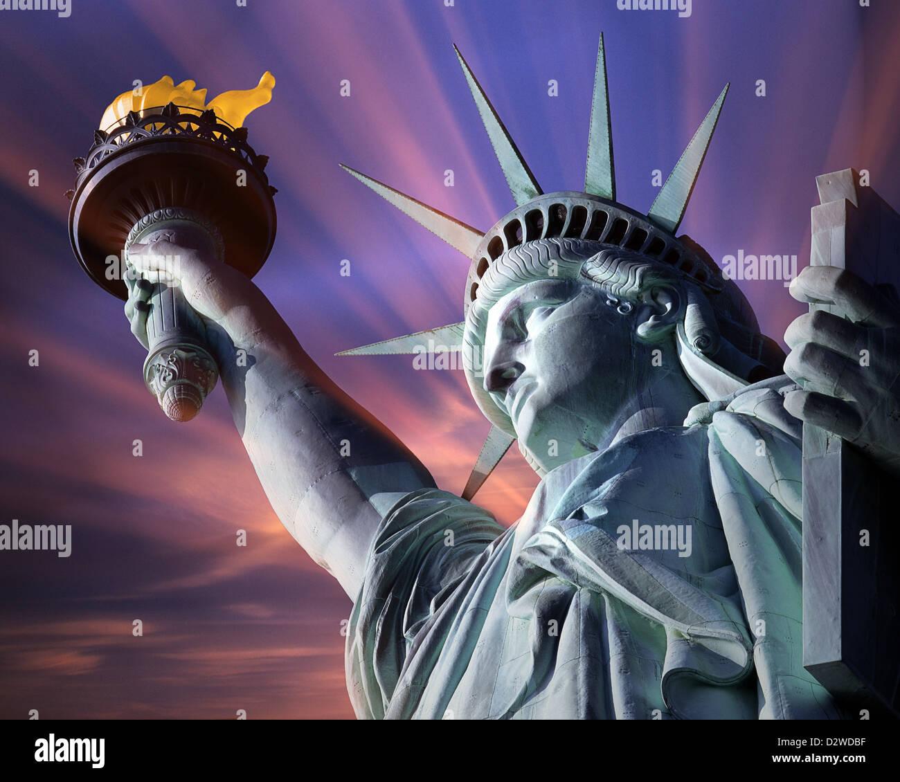 USA - NEW YORK: Freiheitsstatue Stockfoto