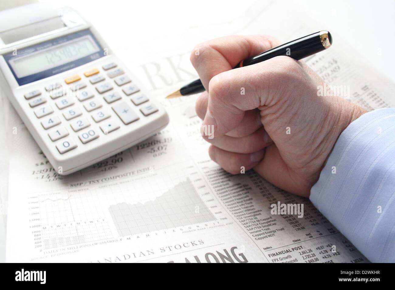 Frustration und Wut über finanzielle Verluste Stockbild