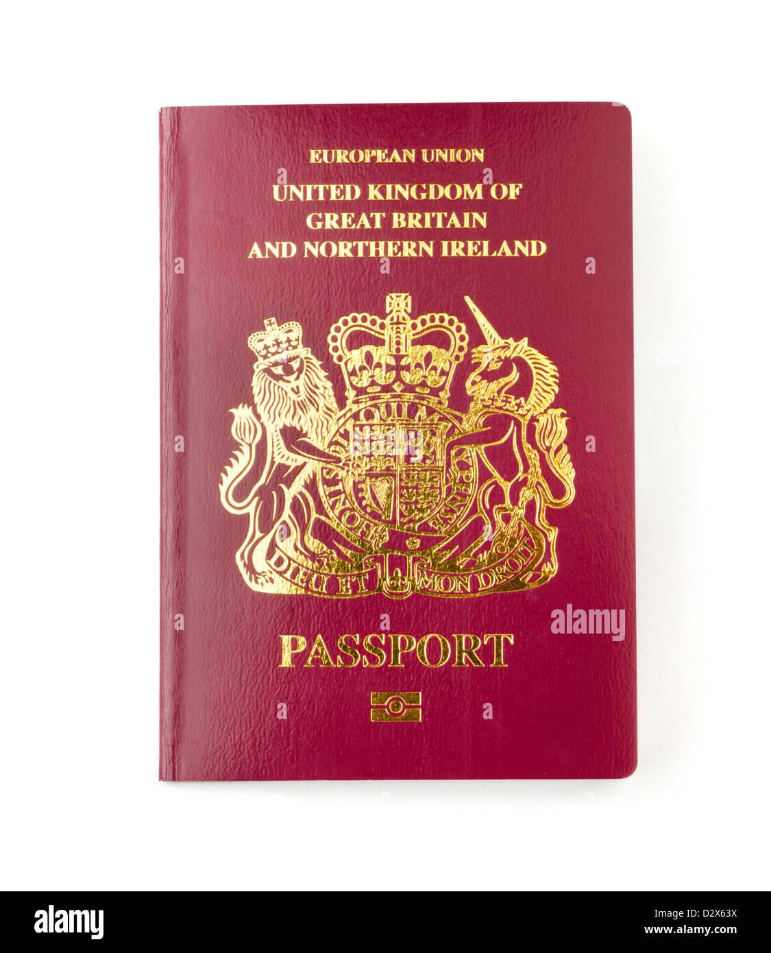 Eine 2013 biometrische EU-Pass für das Vereinigte Königreich Stockbild