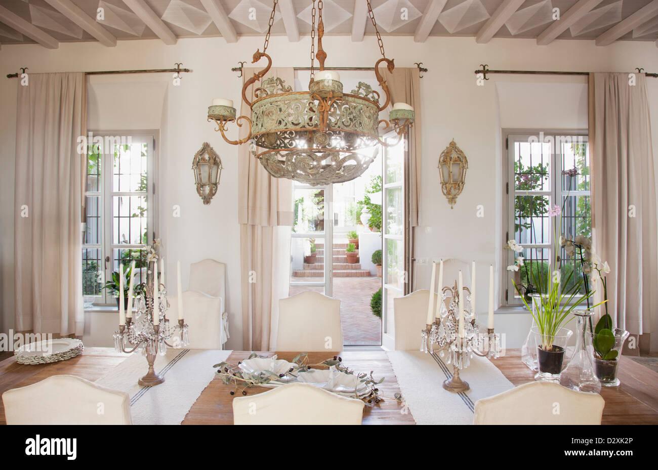 Luxus Esszimmer Stockfoto Bild 53446142 Alamy